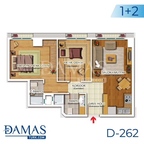 Damas Project D-262 in Istanbul - Floor plan picture 04