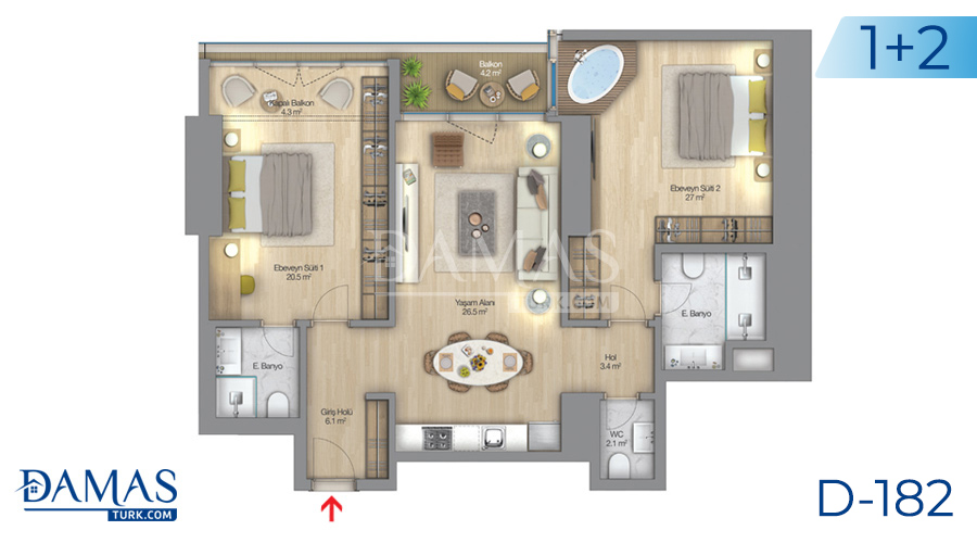 Damas Project D-182 in Istanbul - Floor plan picture  04