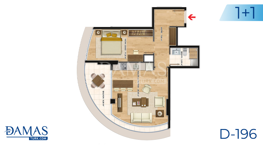 Damas Project D-196 in Istanbul - Floor plan picture  04