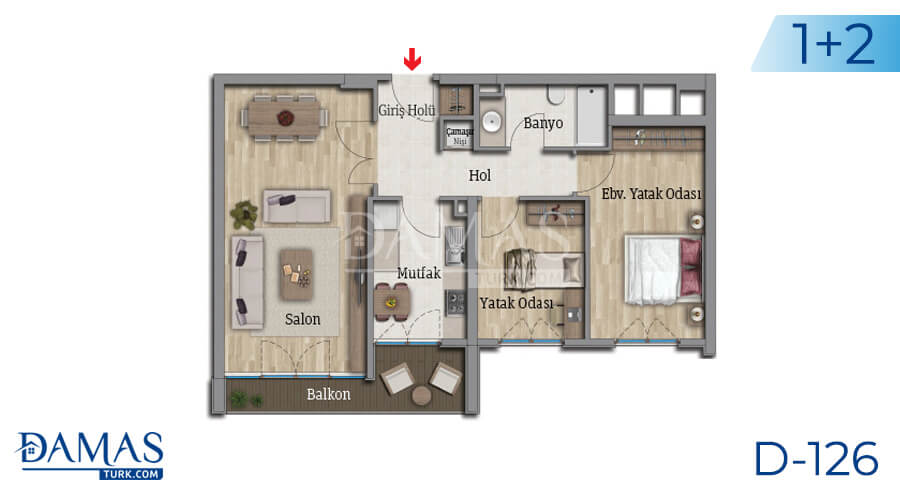 Damas Project D-126 in Istanbul - Floor plan picture 04