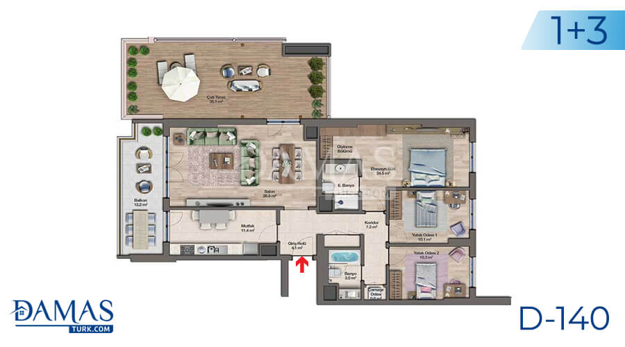 Damas Project D-140 in Istanbul - Floor plan picture 04