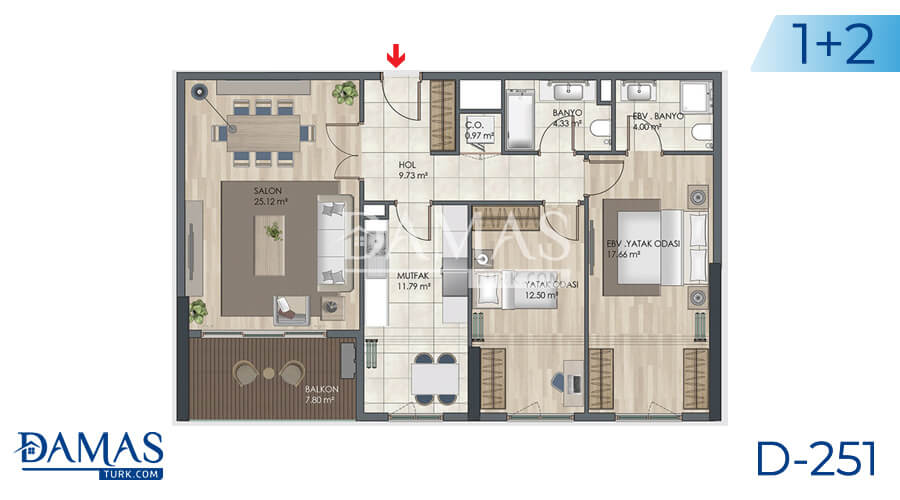 Damas Project D-251 in Istanbul - Floor plan picture 04