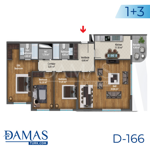 Damas Project D-166 in Istanbul - Floor plan picture  05