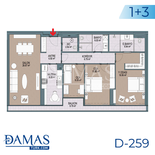 Damas Project D-259 in Istanbul - Floor plan picture 05
