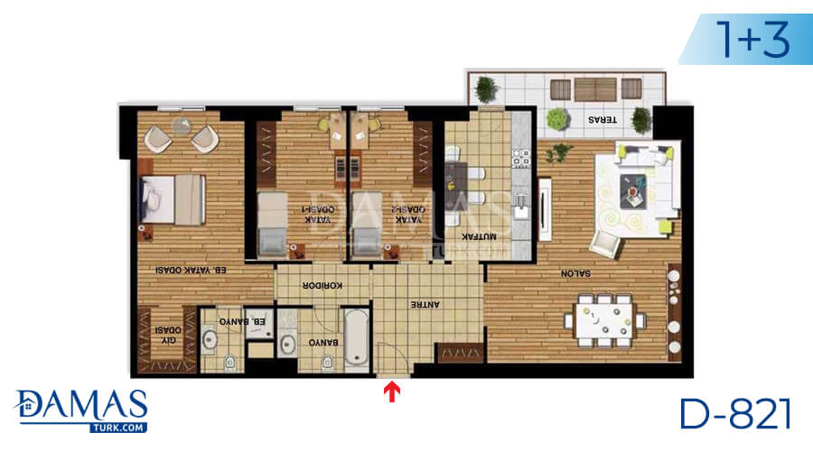 Damas Project D-821 in Istanbul - Floor plan picture 05
