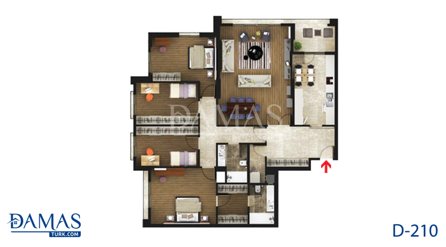 Damas Project D-219 in Istanbul - Floor plan picture  05