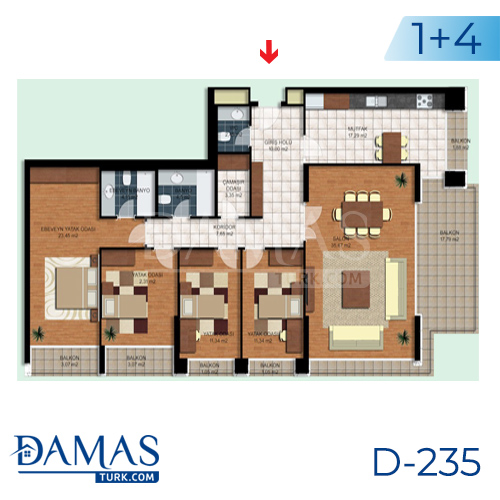 Damas Project D-235 in Istanbul - interior picture  05