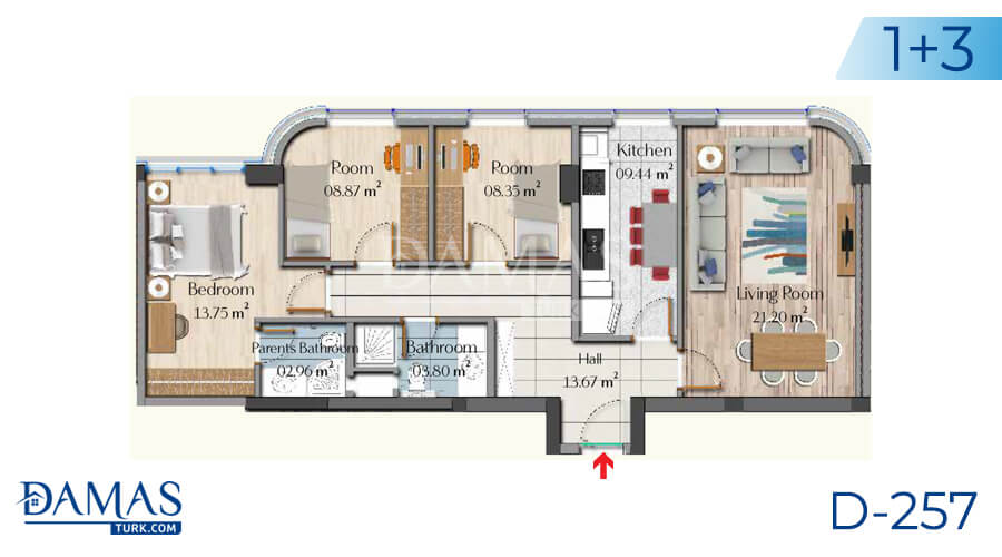 Damas Project D-257 in Istanbul - Floor plan picture 05