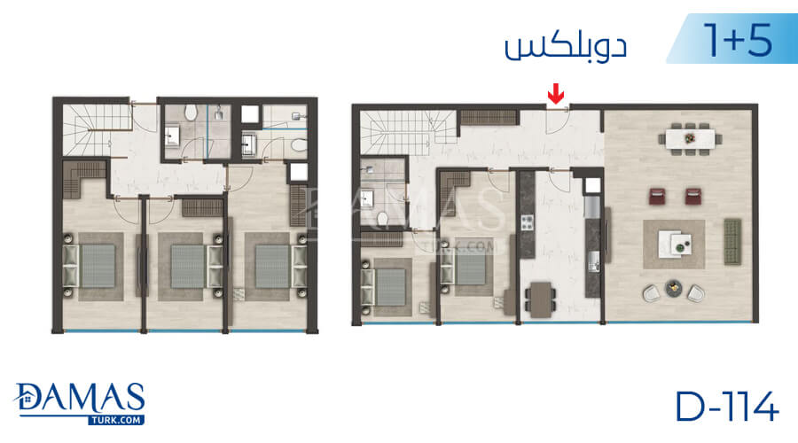 Damas Project D-114 in Istanbul - Floor plan picture 06