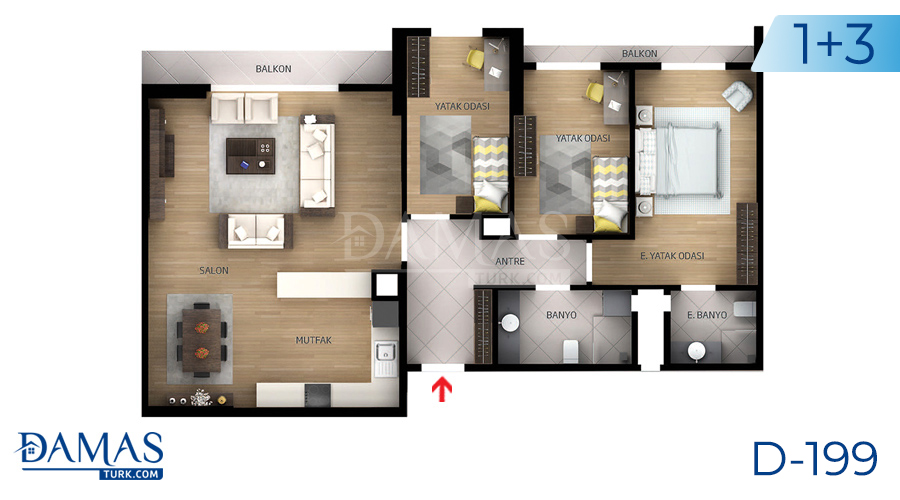 Damas Project D-199 in Istanbul - Floor plan picture  05