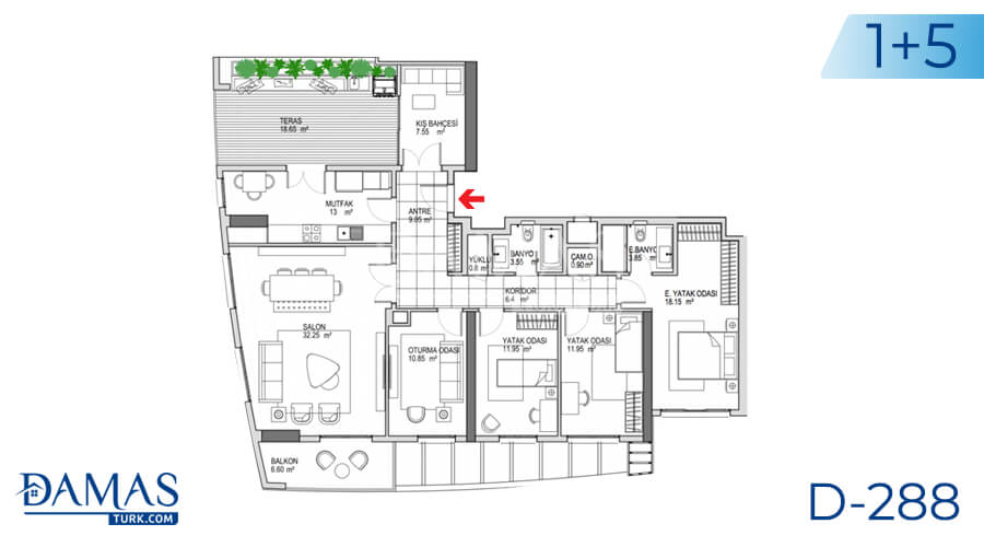 Damas Project D-288 in Istanbul - Floor plan picture 05