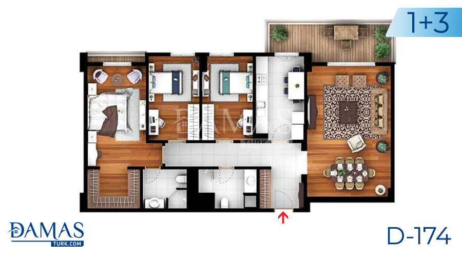 Damas Project D-174 in Istanbul -Floor plan picture  05