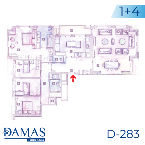 Damas Project D-283 in Istanbul - Floor plan picture 05