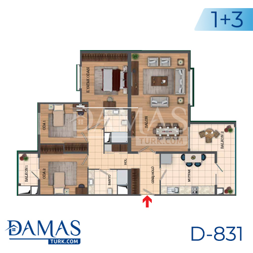 Damas Project D-831 in Istanbul - Floor Plan picture 05