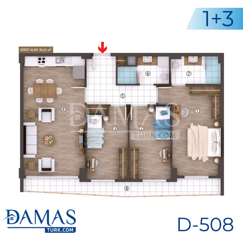 Damas Project D-508 in kocaeli - Floor plan picture 05