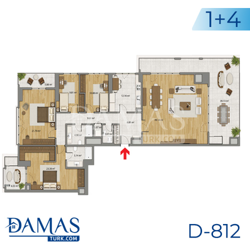 Damas Project D-806 in Istanbul - Floor plan picture 05