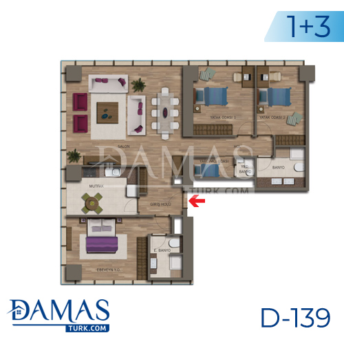 Damas Project D-138 in Istanbul - Floor plan picture 05