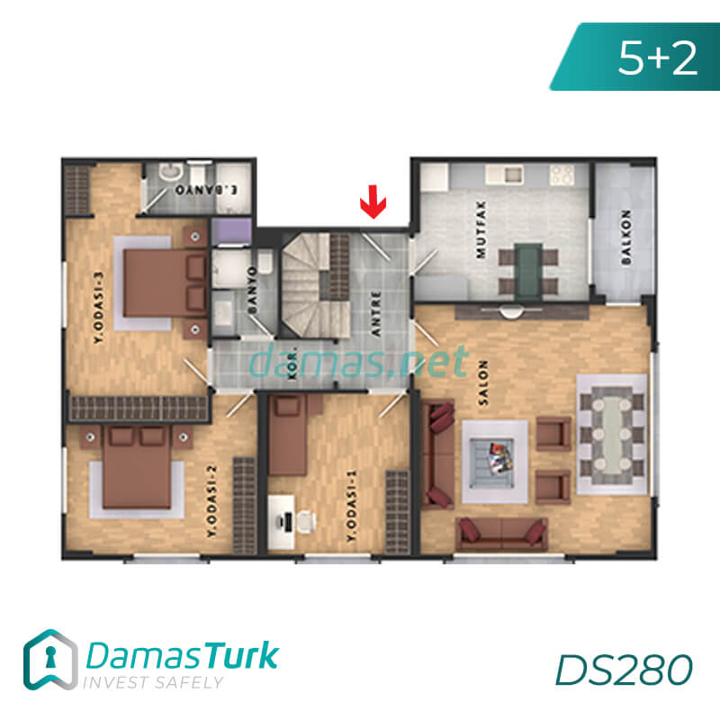 Apartments complex investment is ready to live freely with views of Istanbul European büyükçekmece area DS280    damas.net 04