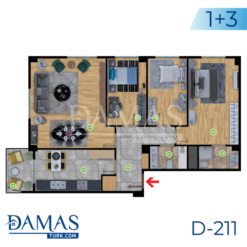 Damas Project D-2181 in Istanbul - Floor plan picture  05