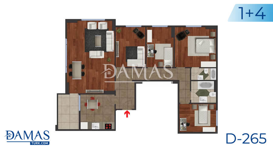 Damas Project D-265 in Istanbul - Floor plan picture 05