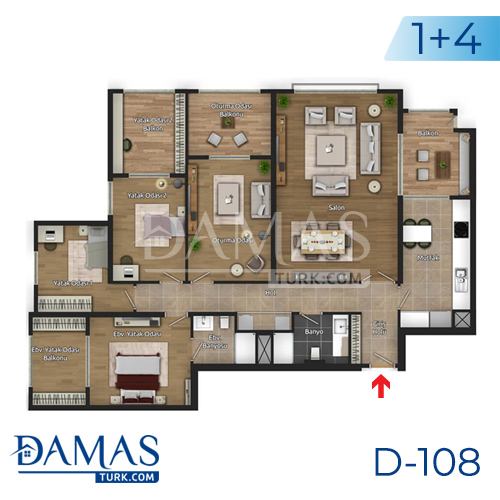 Damas Project D-108 in Istanbul - Floor plan picture 05