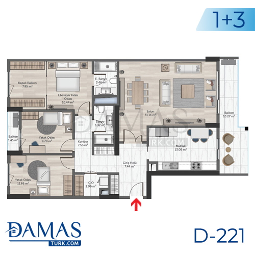 Damas Project D-221 in Istanbul - Floor plan picture  05