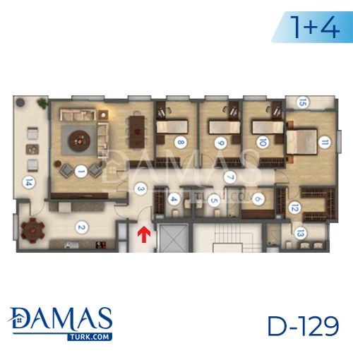Damas Project D-129 in Istanbul - Floor plan picture 05