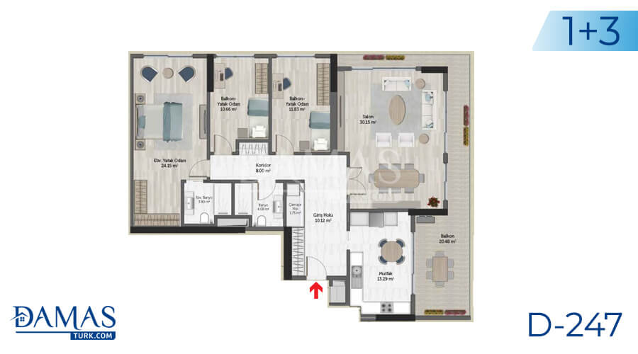 Damas Project D-247 in Istanbul - Floor plan picture 05