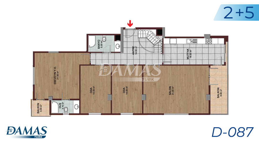 Damas Project D-087 in Istanbul - Floor Plan picture 04