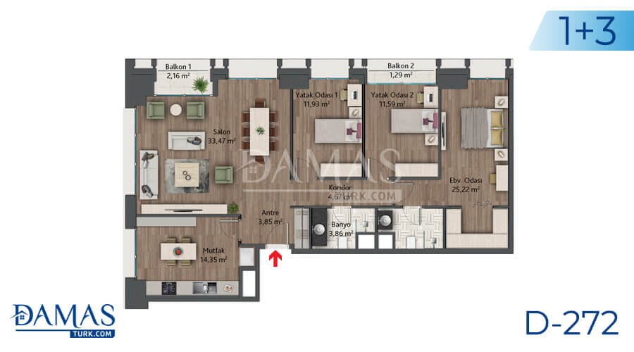 Damas Project D-272 in Istanbul - Floor plan picture 05