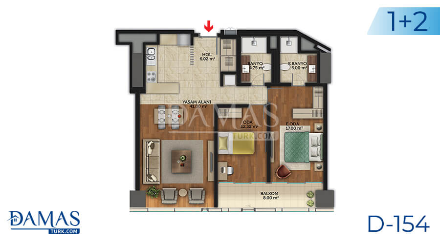Damas Project D-154 in Istanbul - Floor plan picture 05