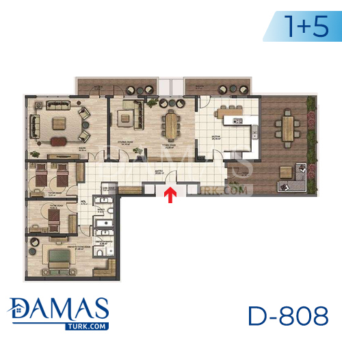 Damas Project D-808 in Istanbul - Floor plan picture 05