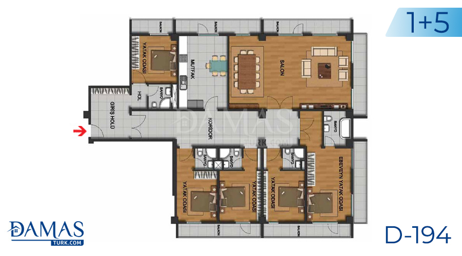 Damas Project D-194 in Istanbul - Floor plan picture  05