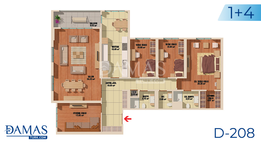 Damas Project D-208 in Istanbul - Floor plan picture  05