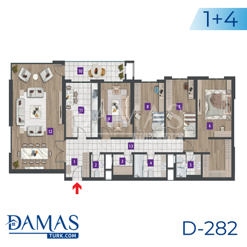 Damas Project D-282 in Istanbul - Floor plan picture 05