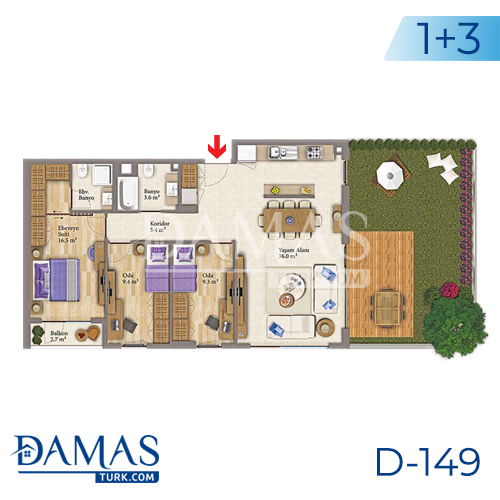 Damas Project D-149 in Istanbul - Floor plan picture 05