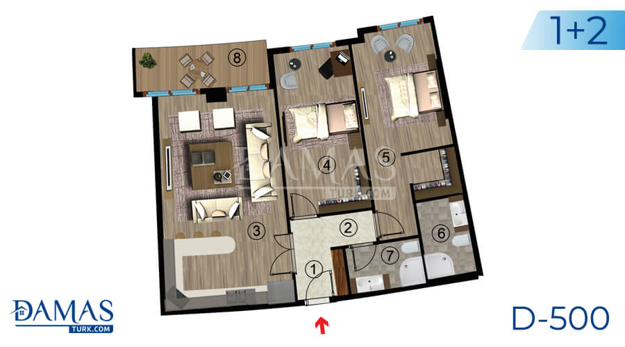 Damas Project D-500 in kocaeli - Floor plan picture  05