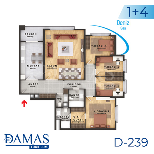 Damas Project D-239 in Istanbul - Floor plan picture  05
