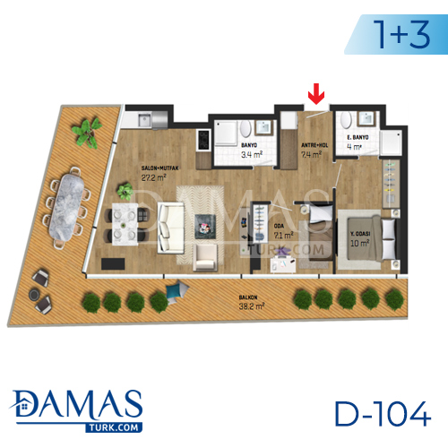 Damas Project D-104 in Istanbul - Floor plan picture 05
