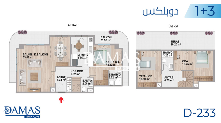 Damas Project D-233 in Istanbul - Floor plan picture  05