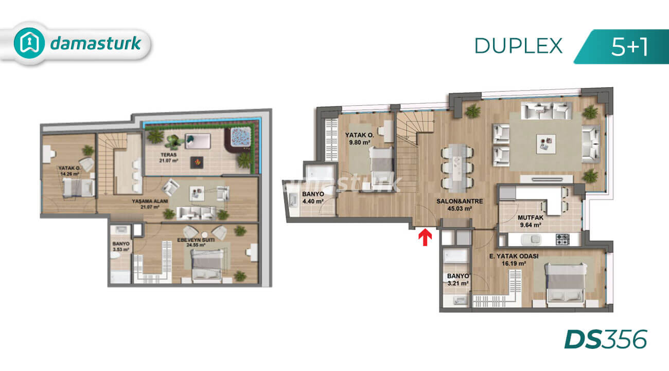 Apartments for sale in Turkey - Istanbul - the complex DS356 || damasturk Real Estate Company 05