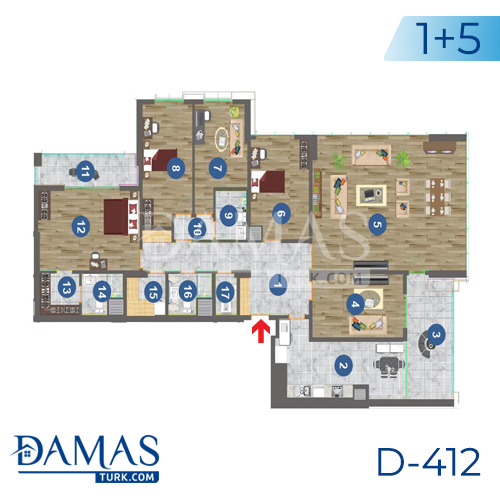 Damas Project D-412 in Trabzon - Floor plan picture 05