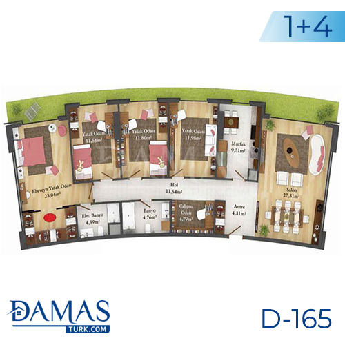 Damas Project D-165 in Istanbul - Floor plan picture  05