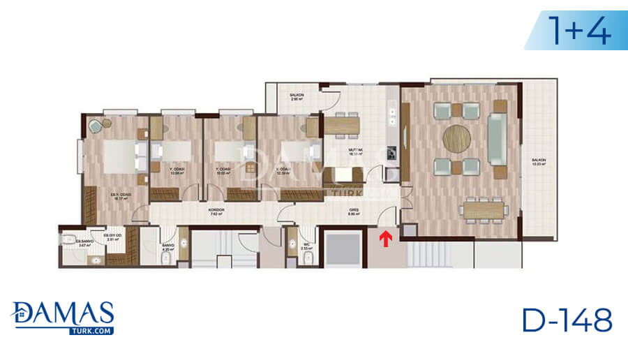 Damas Project D-148 in Istanbul - Floor plan picture 05