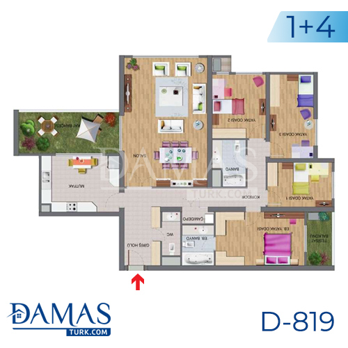 Damas Project D-819 in Istanbul - Floor plan picture 05