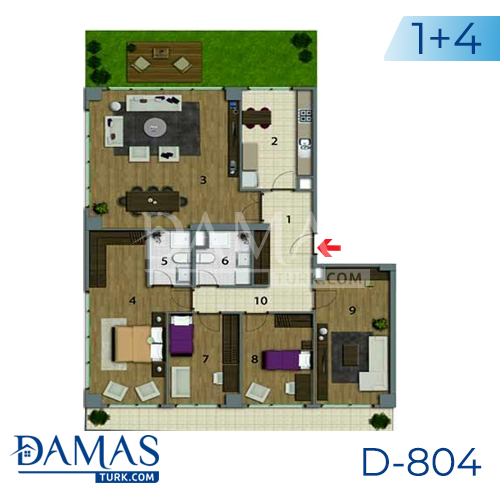 Damas Project D-804 in Istanbul - Floor plan picture 05