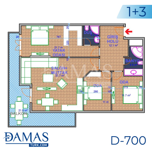 Damas Project D-700 in Ankara - Floor plan picture 05