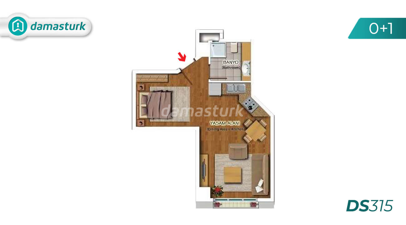 Hotel apartments for sale in Turkey - compound DS315 || damasturk Real Estate Company 05