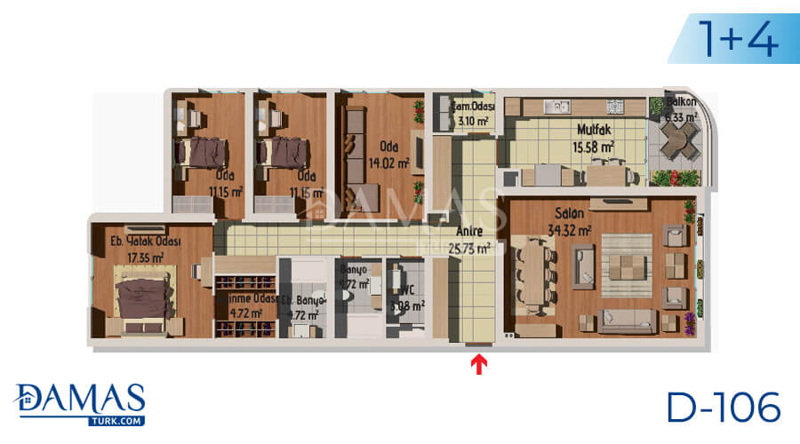 Damas Project D-106 in Istanbul - Floor plan picture 05
