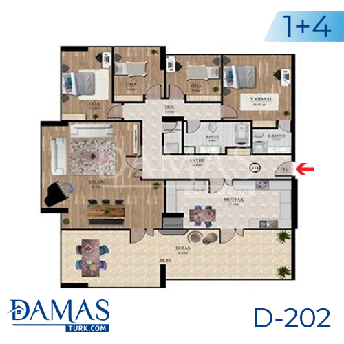 Damas Project D-202 in Istanbul - Floor plan picture  05
